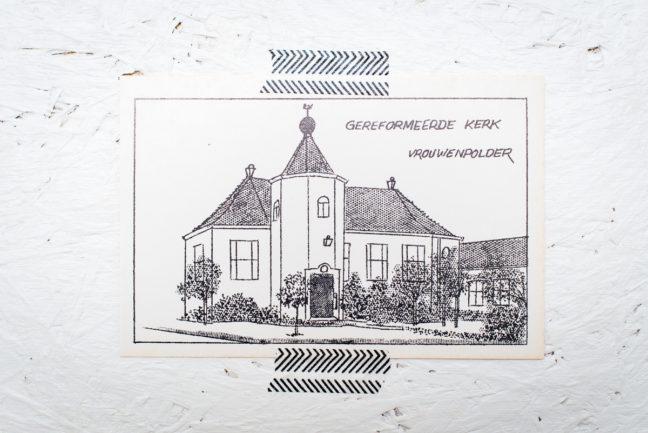 Pentekening Gereformeerde Kerk Vrouwenpolder